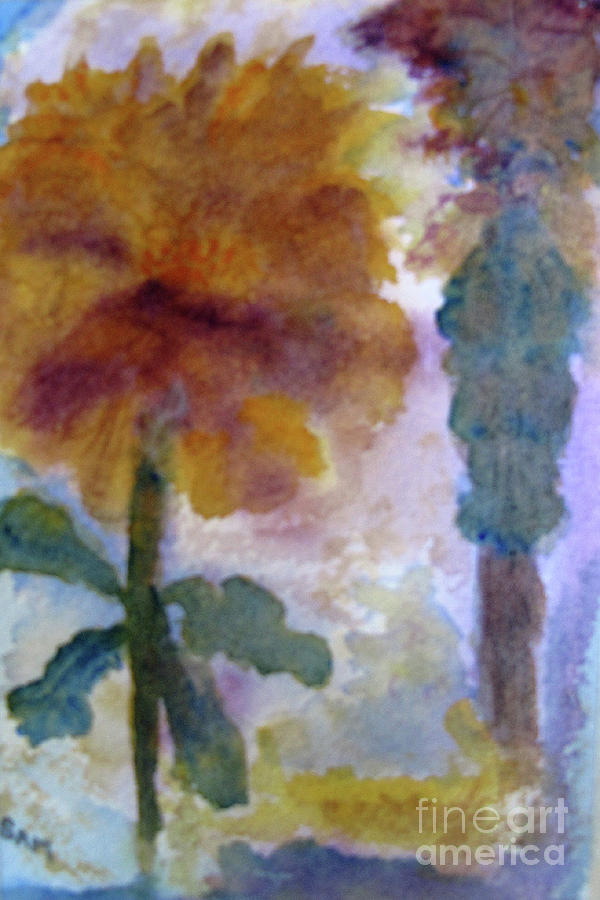 Flower and Palm by Sandy McIntire