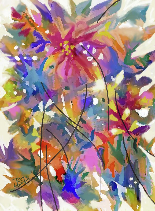 FLower Bouquet 2 by Jean Batzell Fitzgerald