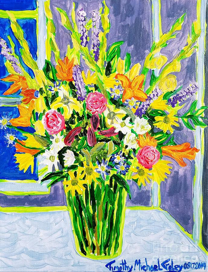Flower Bouquet on the Table  by Timothy Foley
