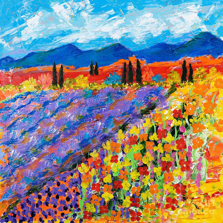 Flower Fields by Art by Danielle