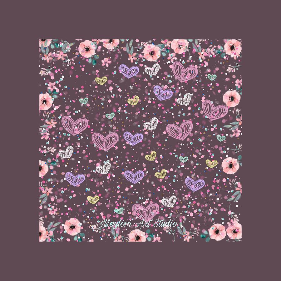 Flowers Digital Art - Flower Garden 3 by Moylom Art Studio