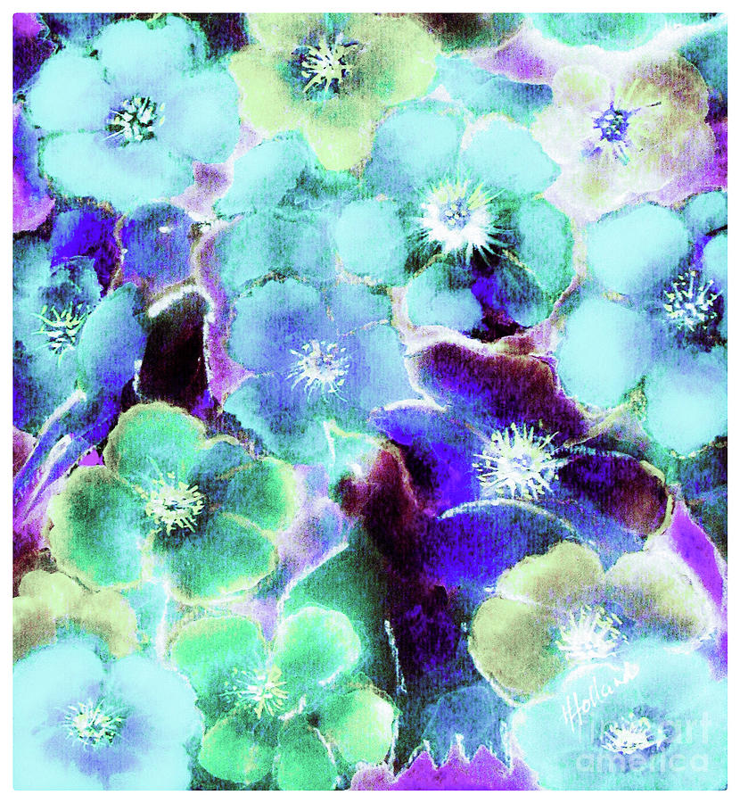Flower Garden Fantasy in Blue by Hazel Holland