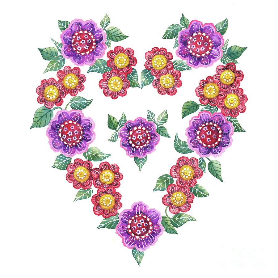 Flower Heart by Shelley Wallace Ylst