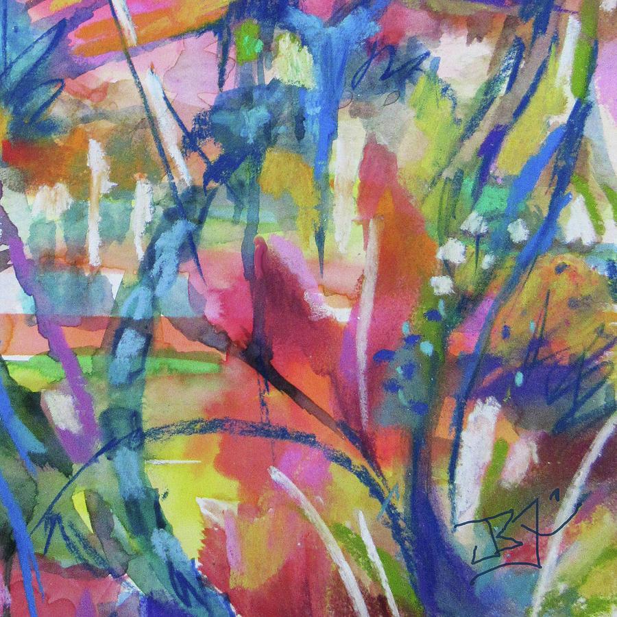 Flower Intensive - Detail by Jean Batzell Fitzgerald
