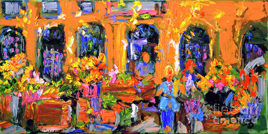 Flower Market in Provence by Ginette Callaway
