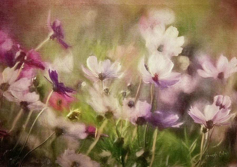 Design Mixed Media - Flower Meadow by Amanda Lakey