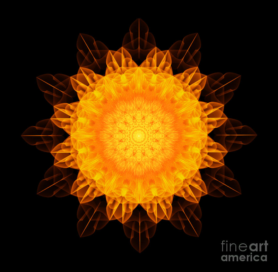 Flower of Abundance Sacred Geometry by Nathalie DAOUT