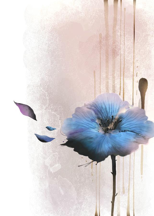 Flower On White Background Digital Art by Ivary
