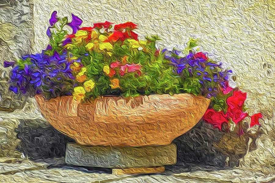 Flower Pot Impression by Dimitris Sivyllis