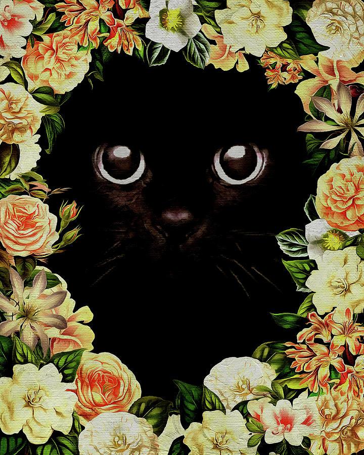 Flower Power Kitten by Jan Keteleer
