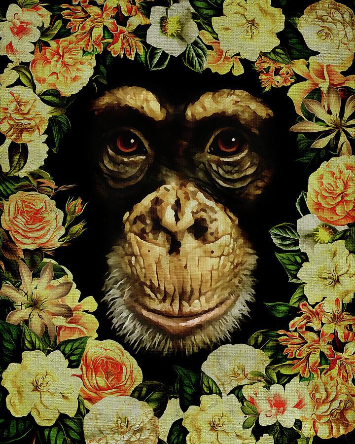 Flower Power Monkey by Jan Keteleer