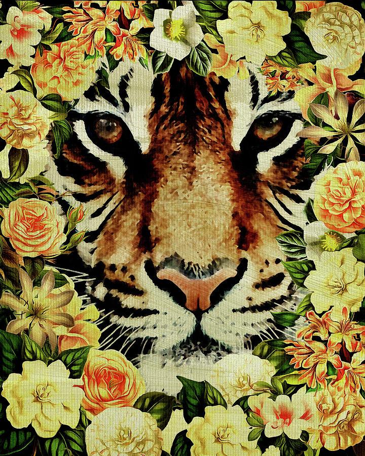 Flower Power Tiger by Jan Keteleer