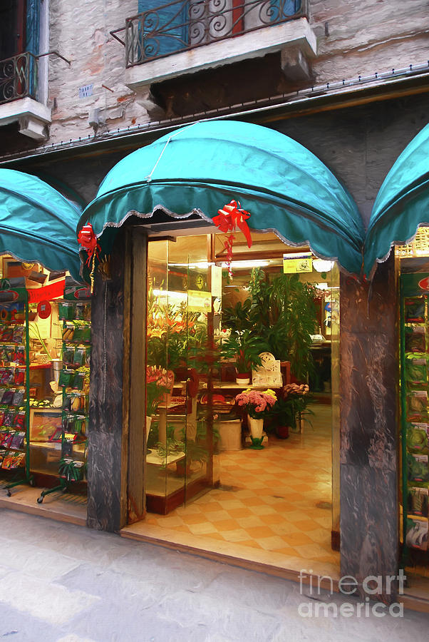 Flower Shop In Venice by Mel Steinhauer