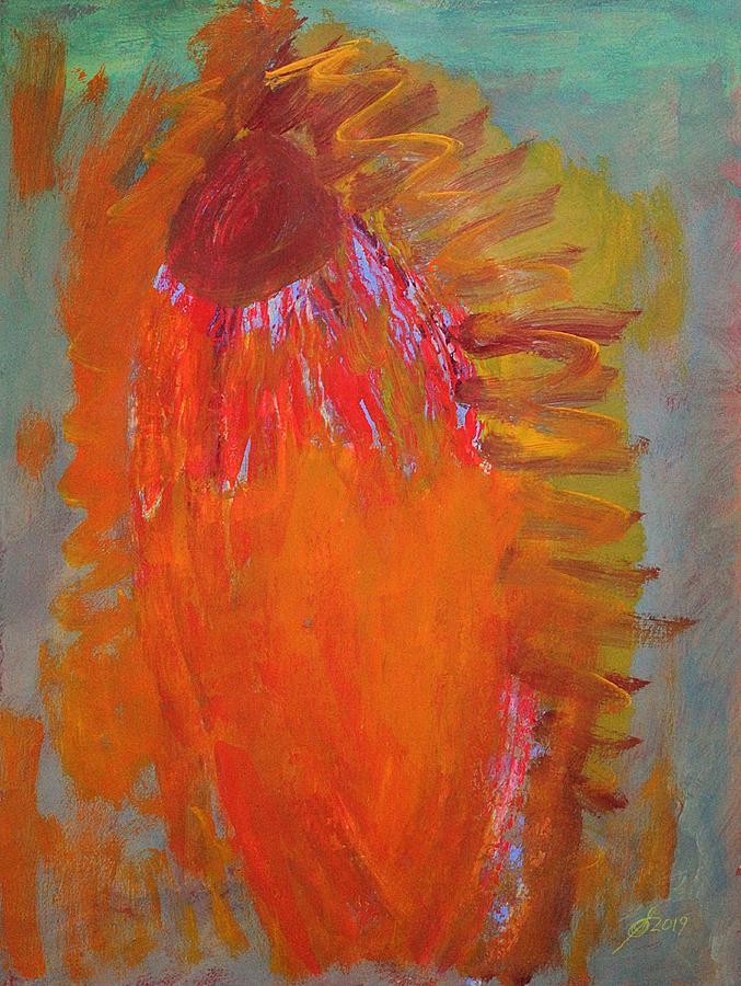 Flower Spirit original painting by Sol Luckman