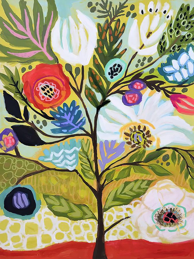 Floral Painting -  Flower Tree I    by Karen Fields