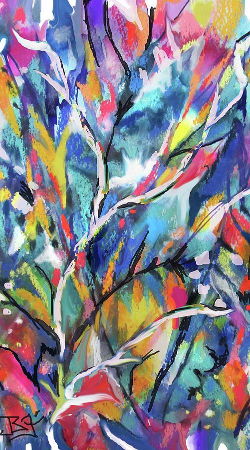 Flowered Vine by Jean Batzell Fitzgerald