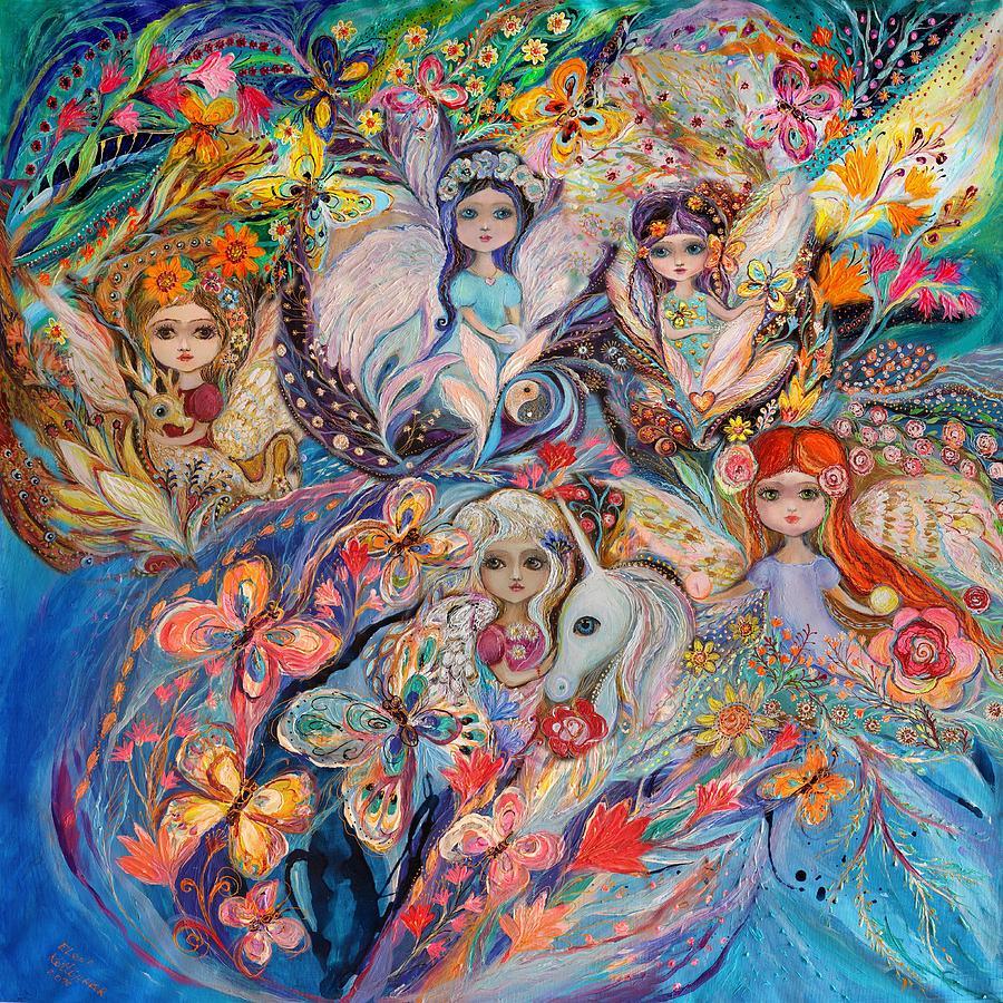 Fantasy Painting - Flowers Among Flowers by Elena Kotliarker