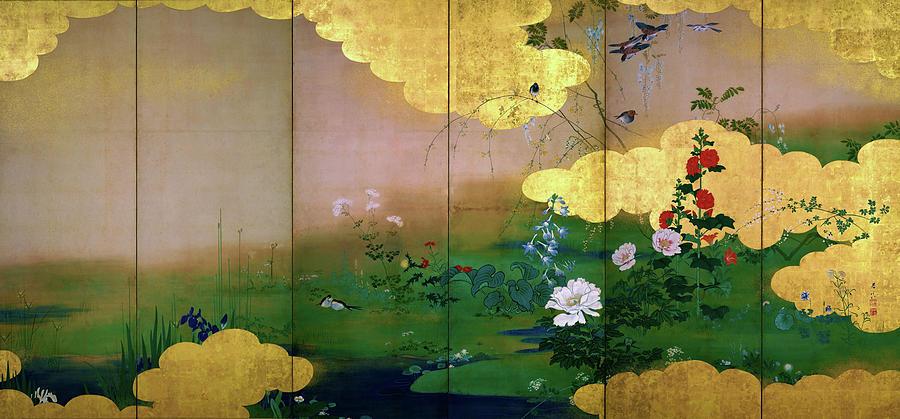 Shibata Zeshin Painting - Flowers And Birds Of The Four Seasons - Digital Remastered Edition by Shibata Zeshin
