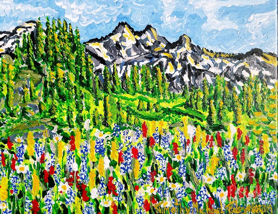 Flowers before the Mountainous Terrain  by Timothy Foley