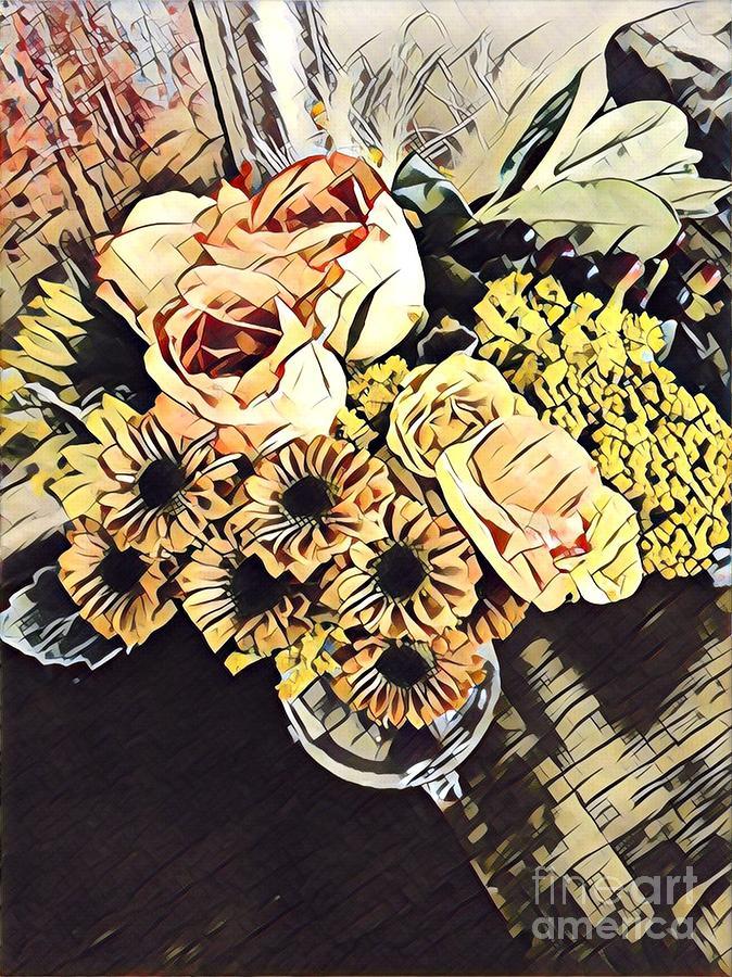 Flowers Digital Art - Flowers By App by Karen Francis