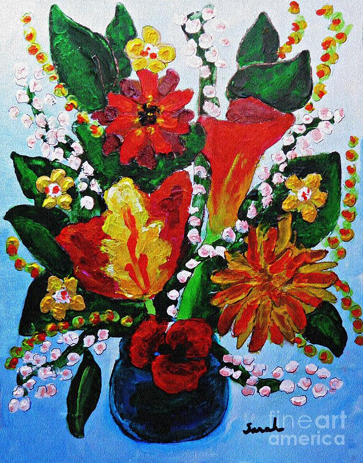 Flowers Painting - Flowers For Victoria by Sarah Loft
