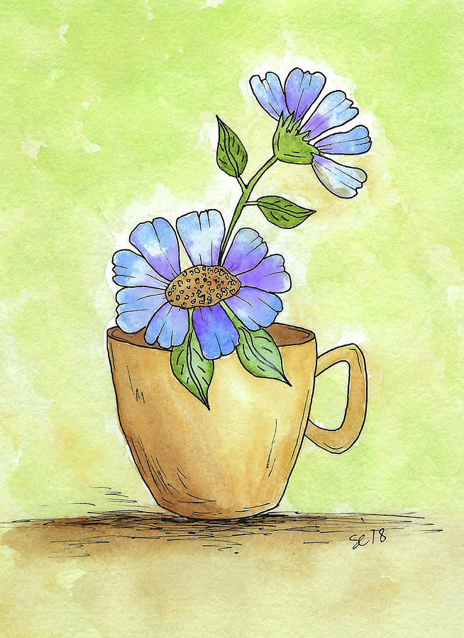 Flowers In A Teacup by Susan Campbell