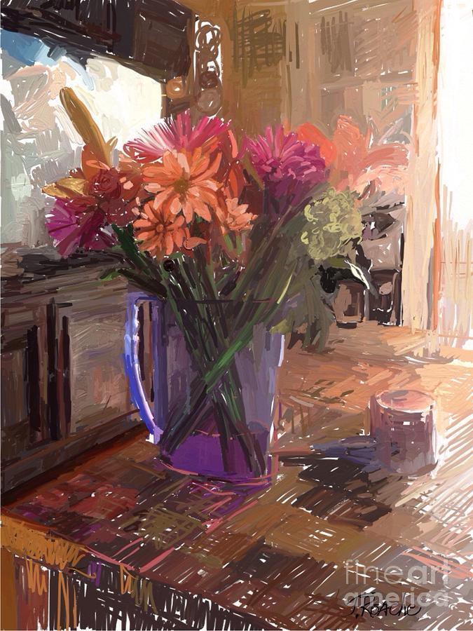 Flowers in a Vase by Joe Roache