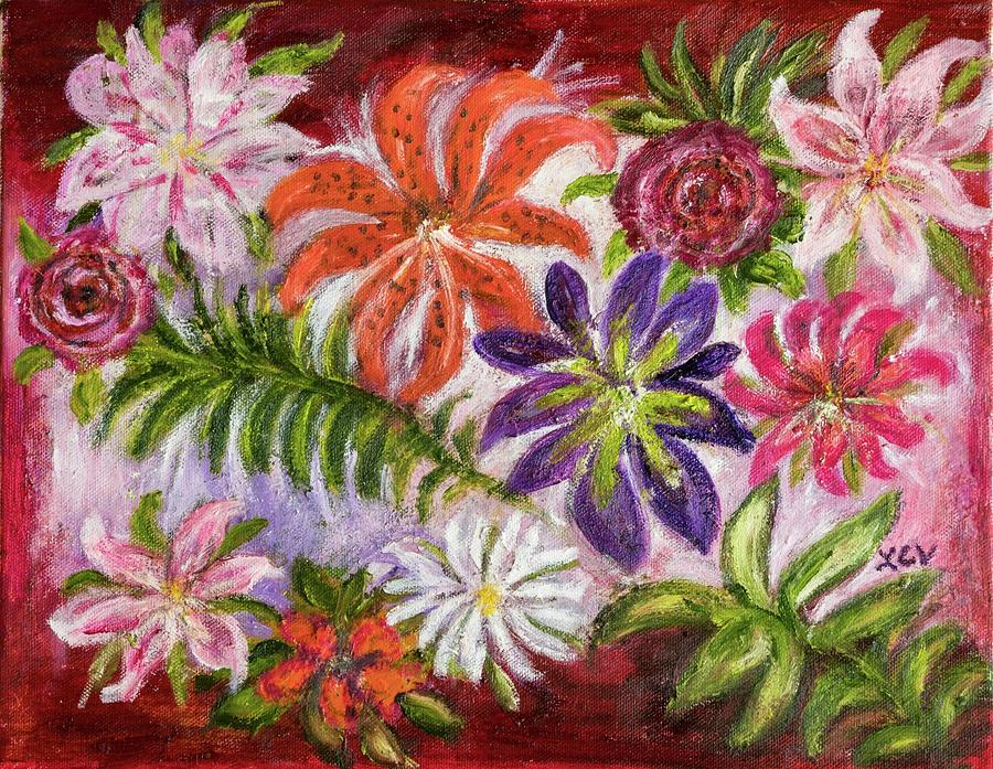 Flowers in Adele's Garde by Lucille Valentino
