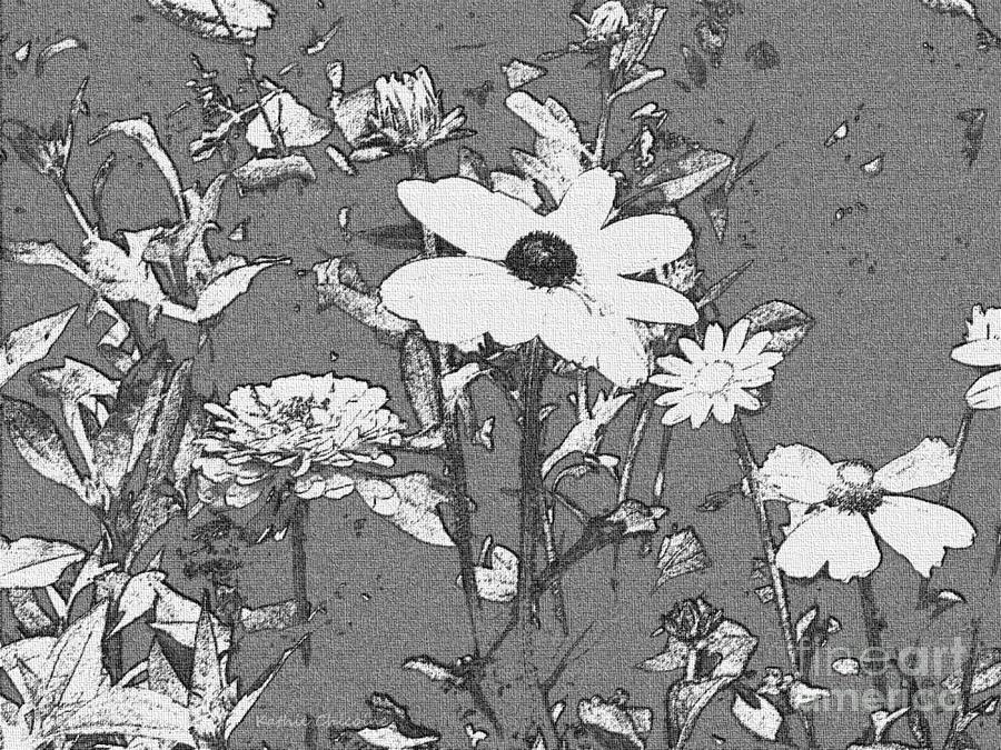 Flowers in Black and White by Kathie Chicoine