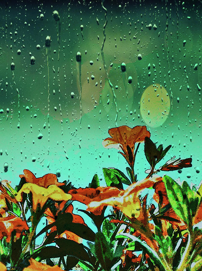 Flowers In Rain Mixed Media
