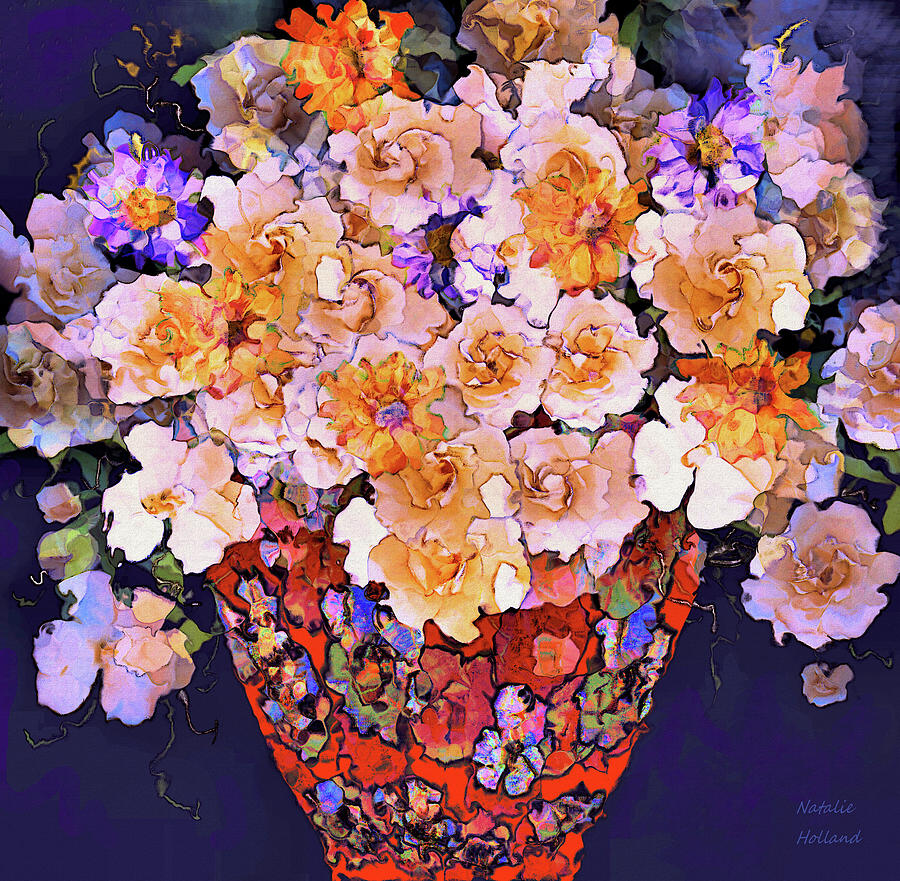 Flowers In Vase by Natalie Holland