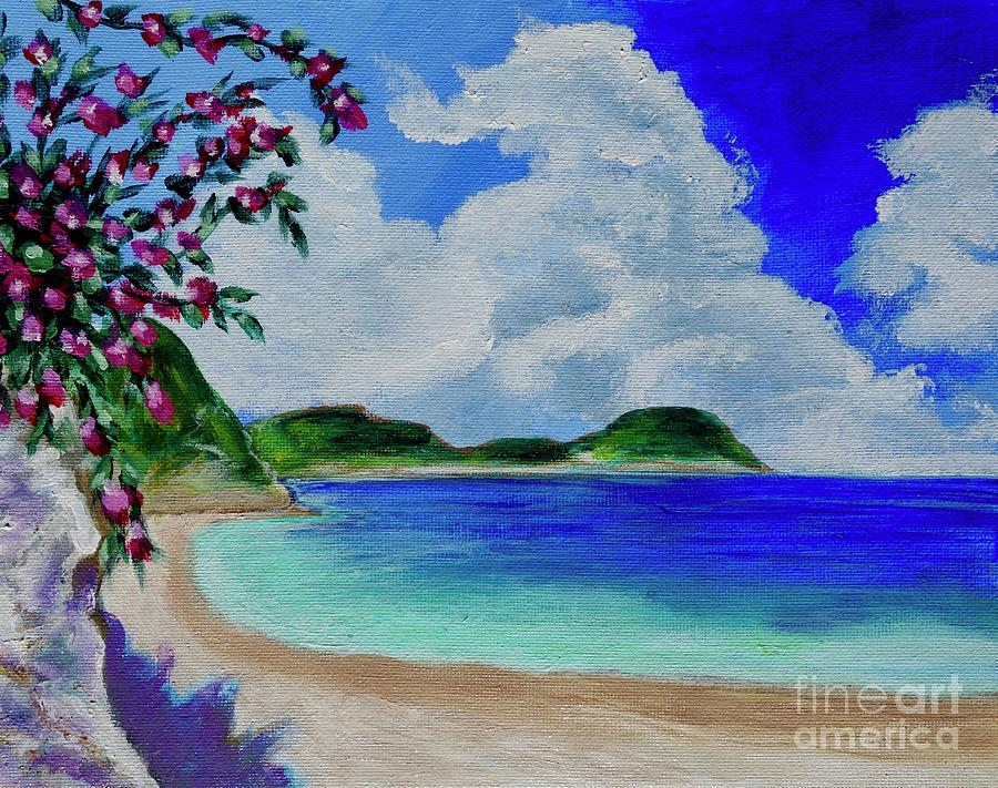 Flowers On The Beach by Jacqueline Athmann