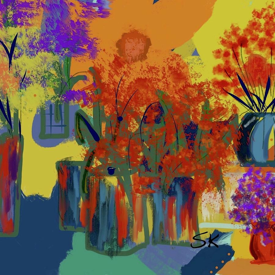 Flowershop Binge Square by Sherry Killam
