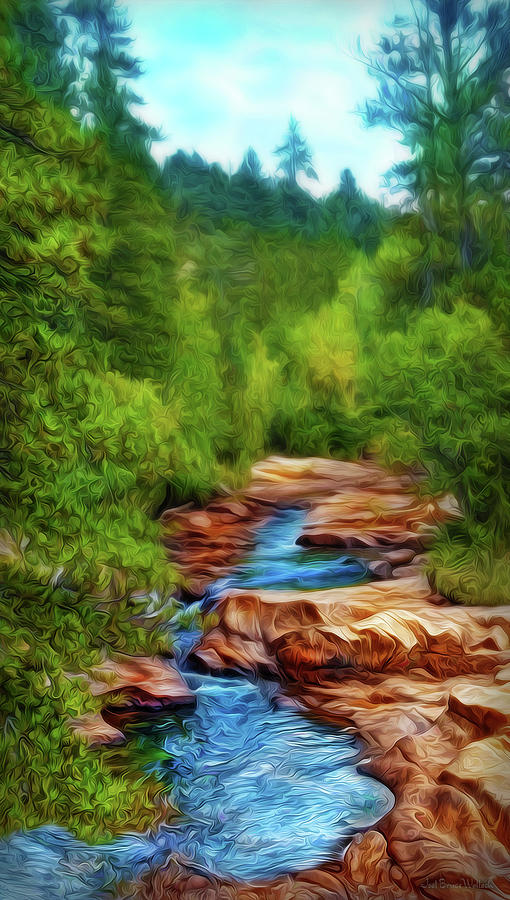 Flowing River Pathway by Joel Bruce Wallach