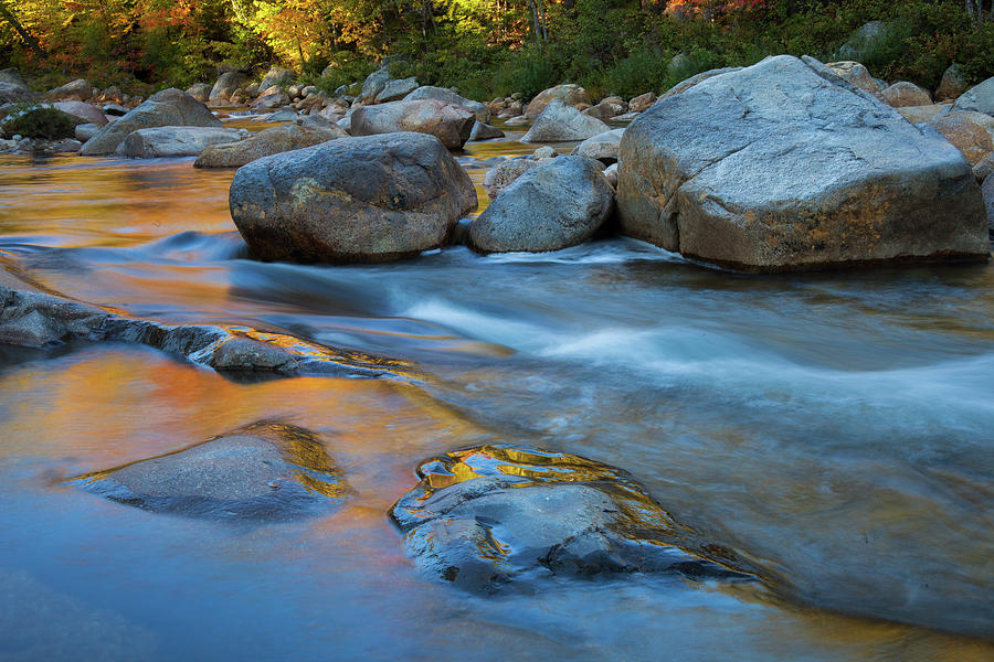 Flowing water in the Swift River  Kancamagus Highway by Cliff Wassmann