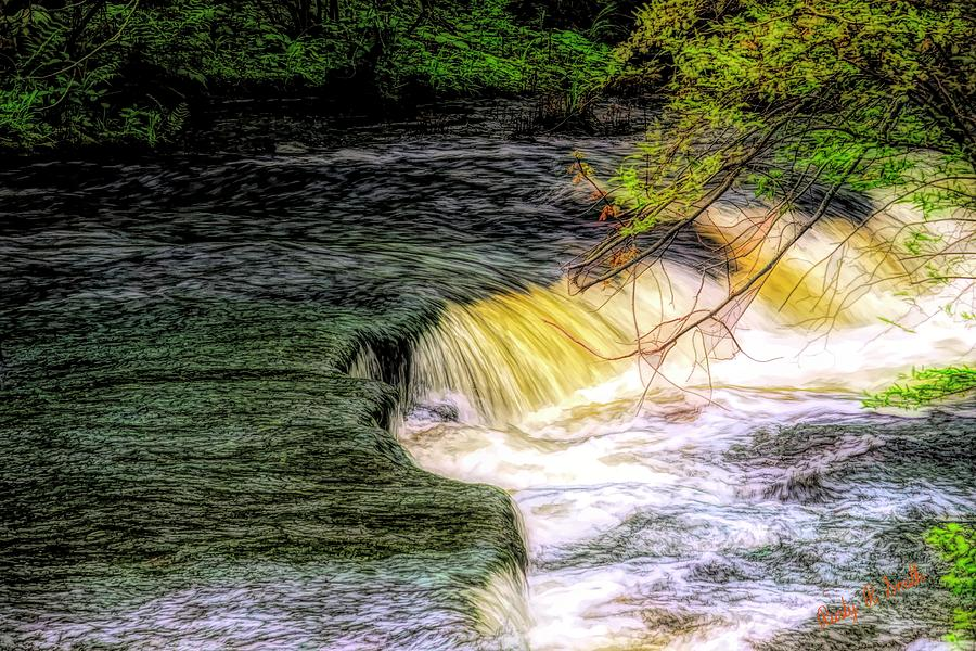 Flowing water. by Rusty R Smith