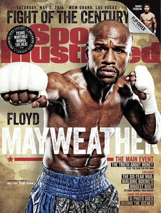 Floyd Mayweather Jr., 2015 Wbawbcwbo Welterweight Title Sports Illustrated Cover Photograph by Sports Illustrated