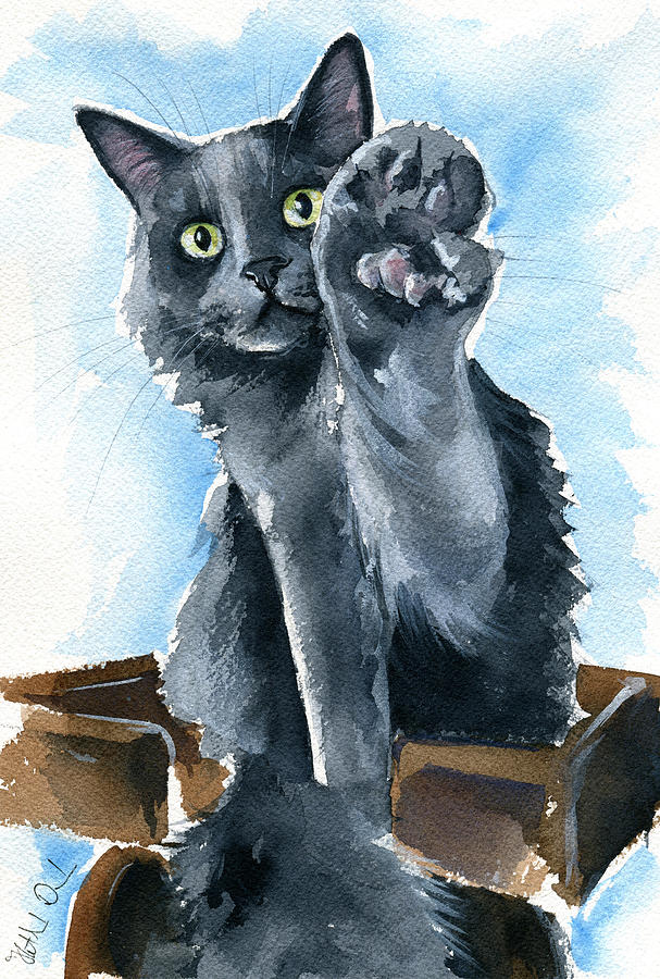Fluffy Paw Five by Dora Hathazi Mendes