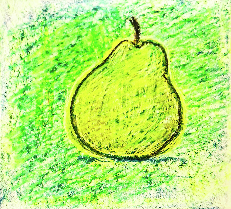 Fluorescent Pear Drawing