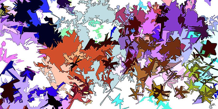 Abstract Digital Art - Fluttering Vista by Linda Mears