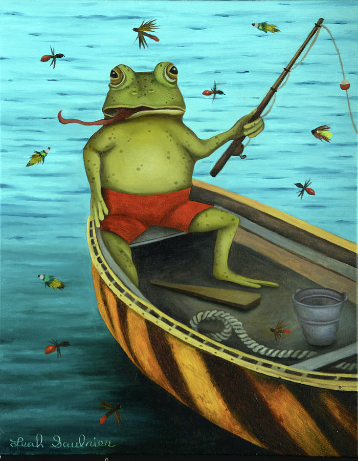 Fly Fishing by Leah Saulnier The Painting Maniac