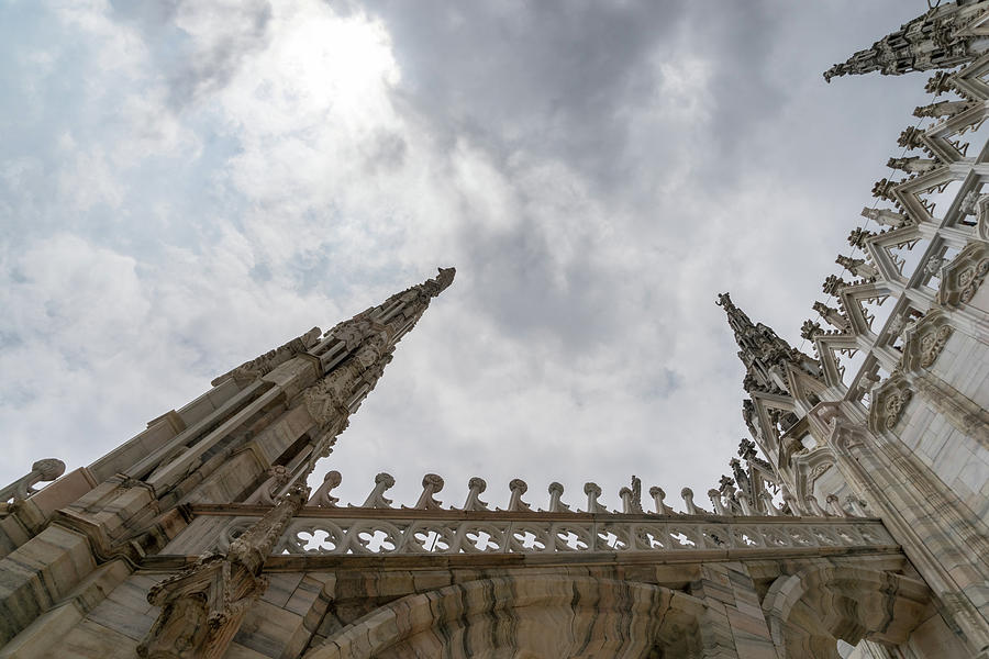 Flying Buttresses and Airy Spires - Milans Cathedral Duomo di Milano by Georgia Mizuleva