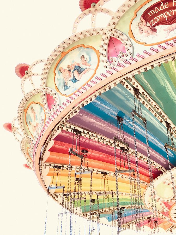 Flying Carousel 1 - Six Flags America by Marianna Mills