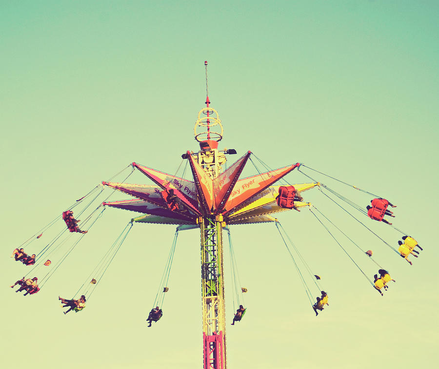 Flying Chairs Ride Photograph by Libertad Leal Photography