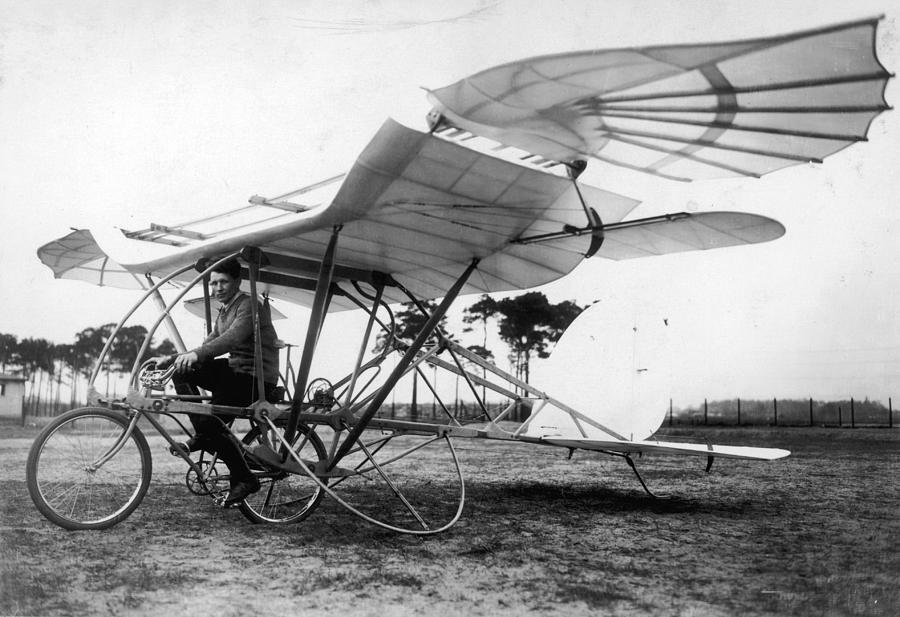 Flying Cycle Photograph by Hulton Archive
