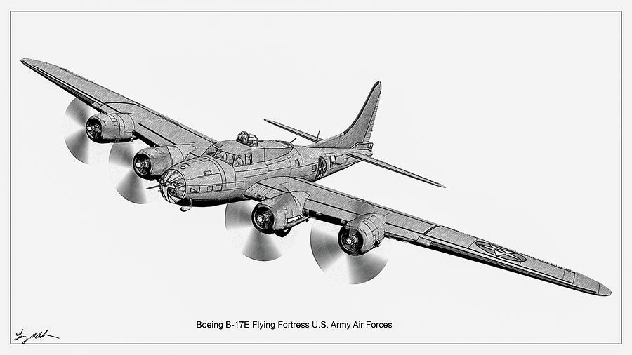 Flying Fortress - Sketch by Tommy Anderson
