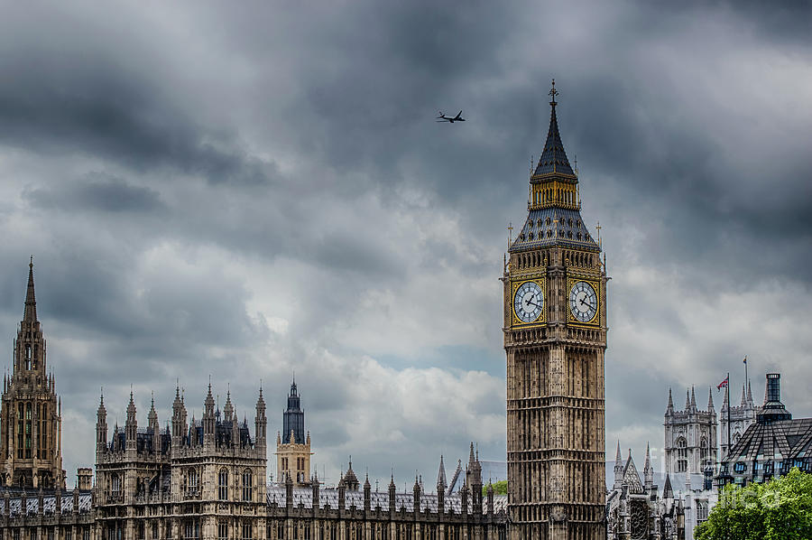 Flying High Over Big Ben by Julie Chambers