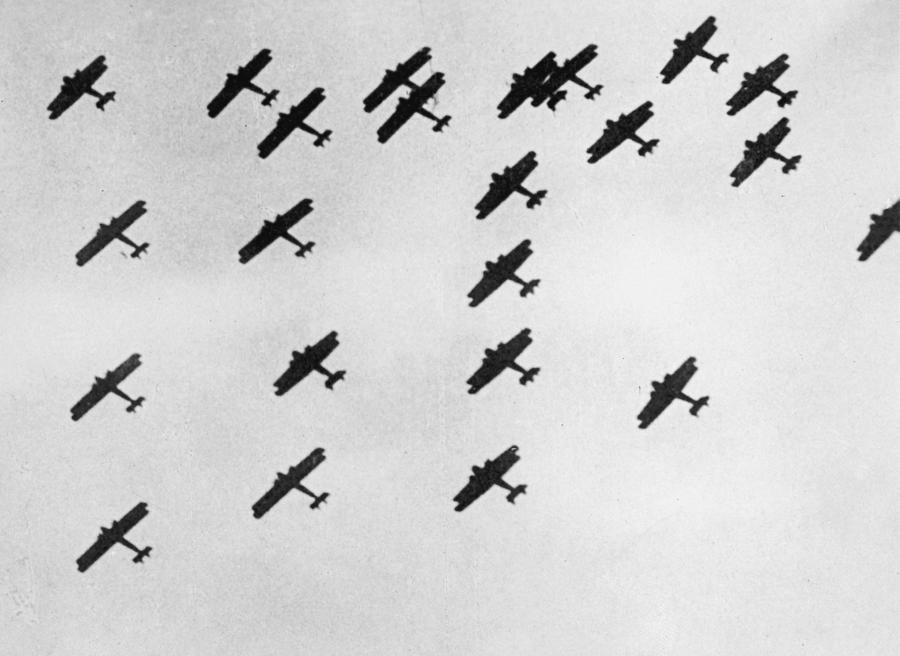Flying In Formation Photograph by General Photographic Agency