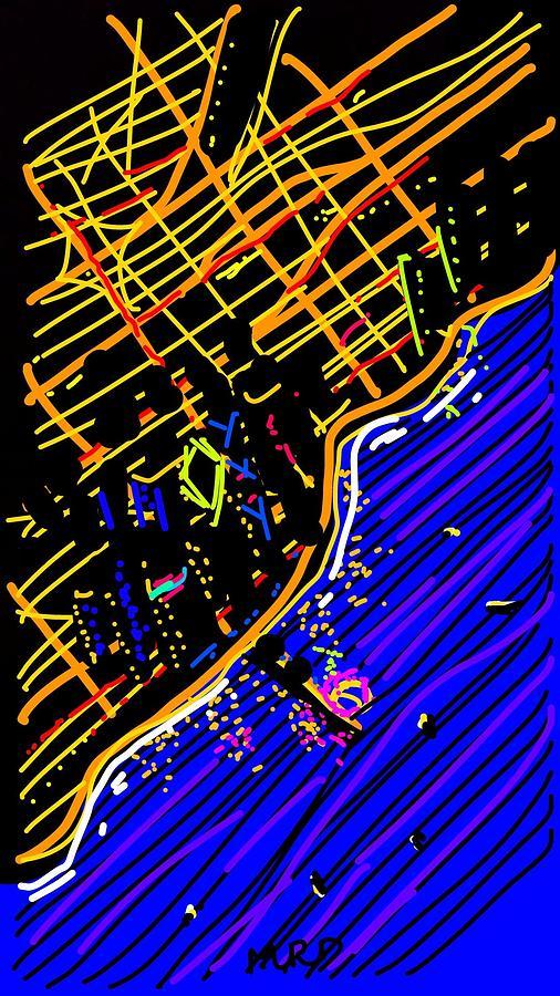 Snapchat Digital Art - Flying into OHare by Madeline Dillner