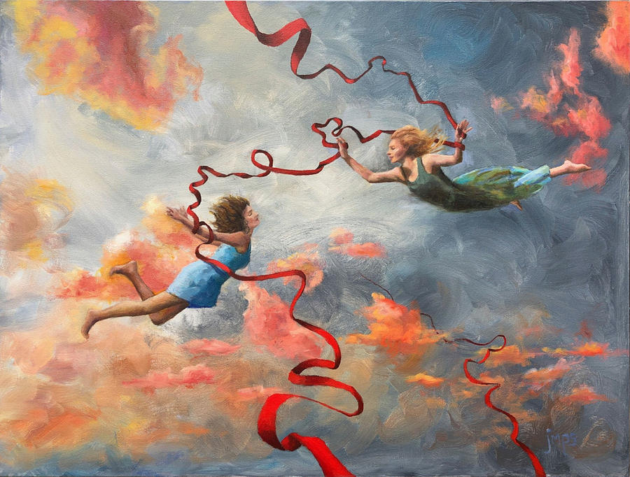 Flying Painting - Flying Prayer Meeting by Jean Smith